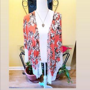 Tropical Lace Kimono